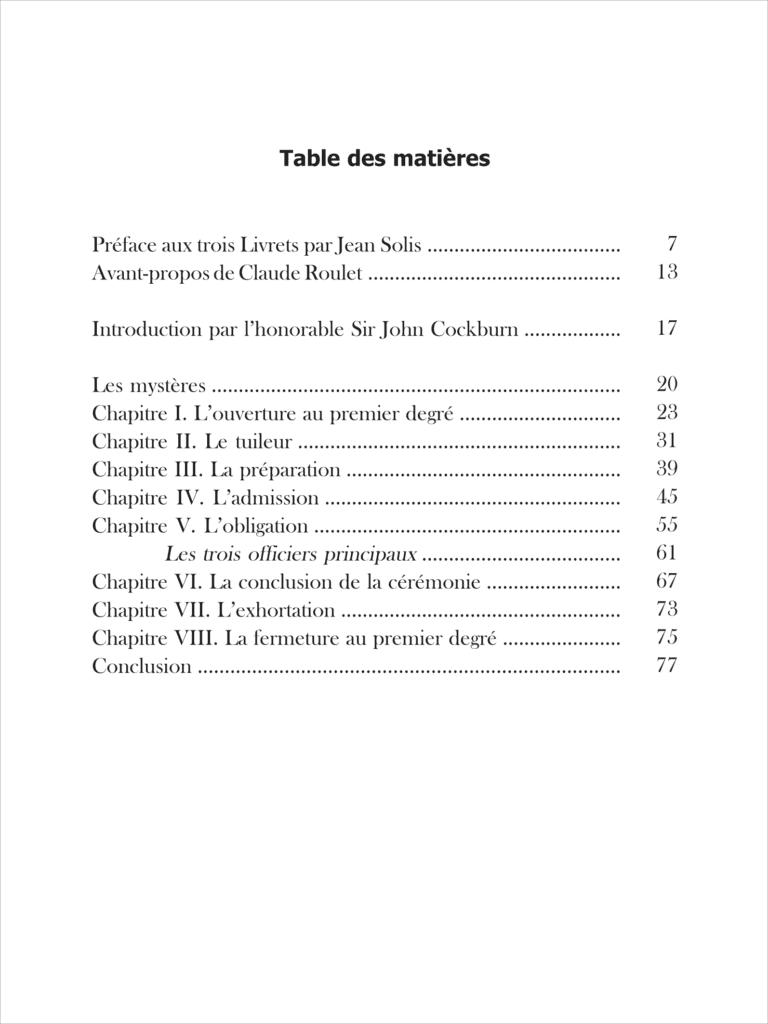 Télécharger la table des matières